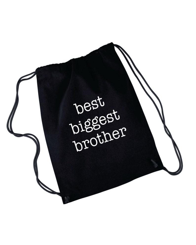 Best Big Sister Custom Backpack Bag New Big Sister Great Baby Shower Gift Gender Reveal Drawstring Bags Gift Ideas Biggest Siter