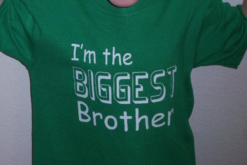 Set of 3 Sibling shirts Big Sister Shirt set custom Biggest Bigger sister t-shirt design baby shower gift ideas pregnancy reveal for sister