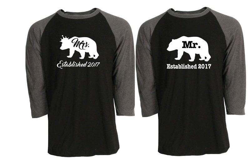 98fb6a15 Raglan 3/4 sleeve t-shirt Bear Wedding Anniversary gift for | Etsy