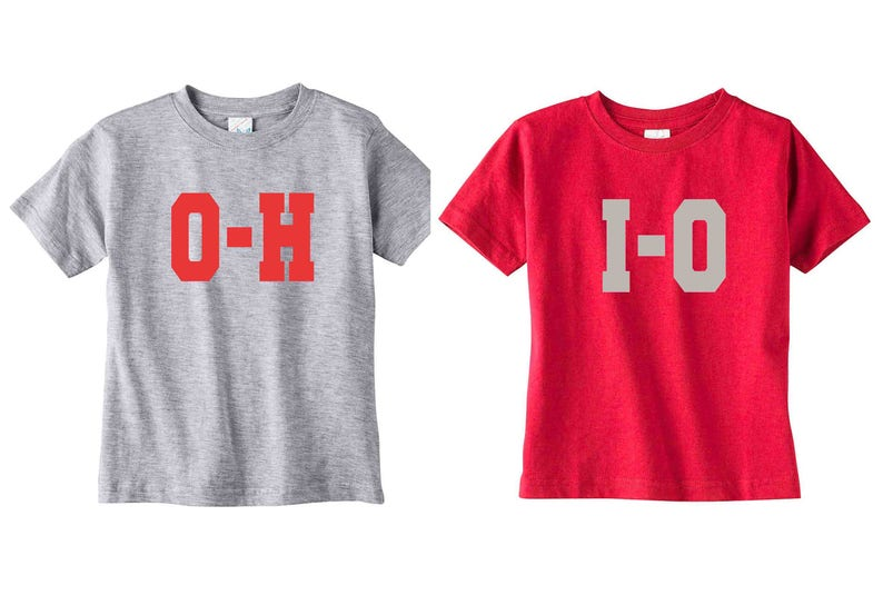 separation shoes 6dee3 74c0f Cool custom shirts, T-shirt Duo For Little Ohio State Football Fans, Cute  Kids Clothing for kids To Get Them Ready For Game Day, jersey
