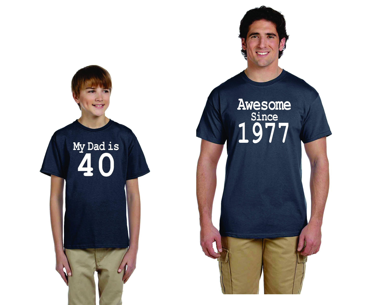Set T Shirts For 40th Birthday Gift Custom Shirts Awesome Etsy