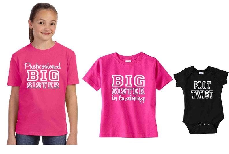 afdfea92 Set of 3 Big Sister Shirt set Big Sister Training   Etsy