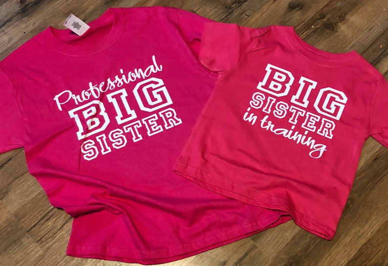 8d420daa88 Big Sister Shirt Set of 2 Big Sister In Training Professional | Etsy