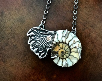 Sterling Silver Nautilus Shell Necklace