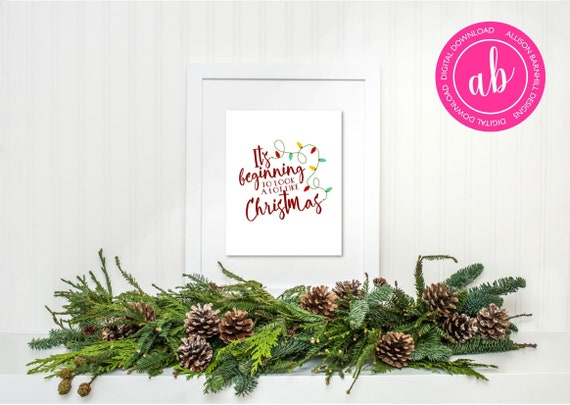 Its Beginning To Look A Lot Like Christmas Lyrics.It S Beginning To Look A Lot Like Christmas Printable Holiday Wall Decor Instant Download Digital File