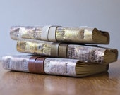 Metallic Snakeskin 6 x 4 Blank or Lined Leather Book - A6 Soft Wrap Cover - Custom Colours - Gold Silver Bronze