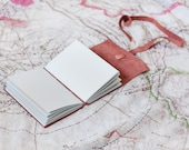Grey Pages Leather Wrap Journal - Handbound Leather Blank Book - 6 x 4 - Custom - Gray Colour - A6 - Gifts for Him - Father's Day