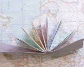 Rainbow Leather Wrap Journal  Handbound Leather Blank Book - 6 x 4 - Custom - Scattered Pastel Multi Colour Pages - A6