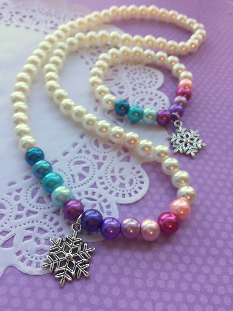 Frozen necklace bracelet set Frozen party favor Frozen image 0