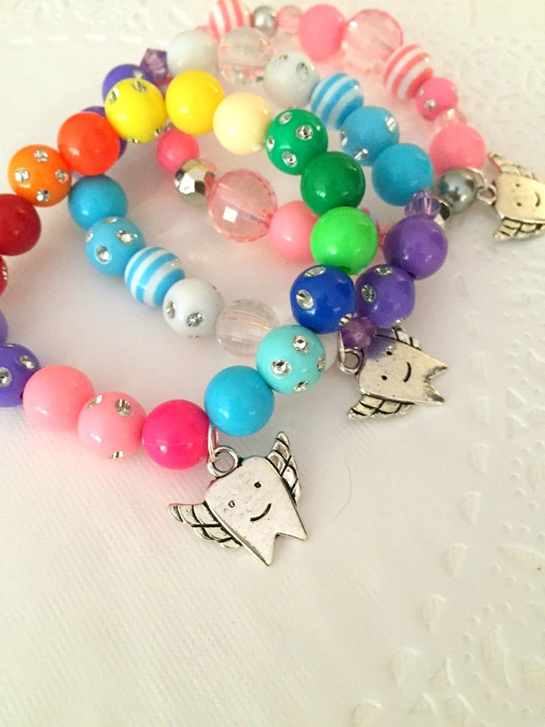 Toothfairy gift set of THREE bracelets tooth fairy beaded. image 0