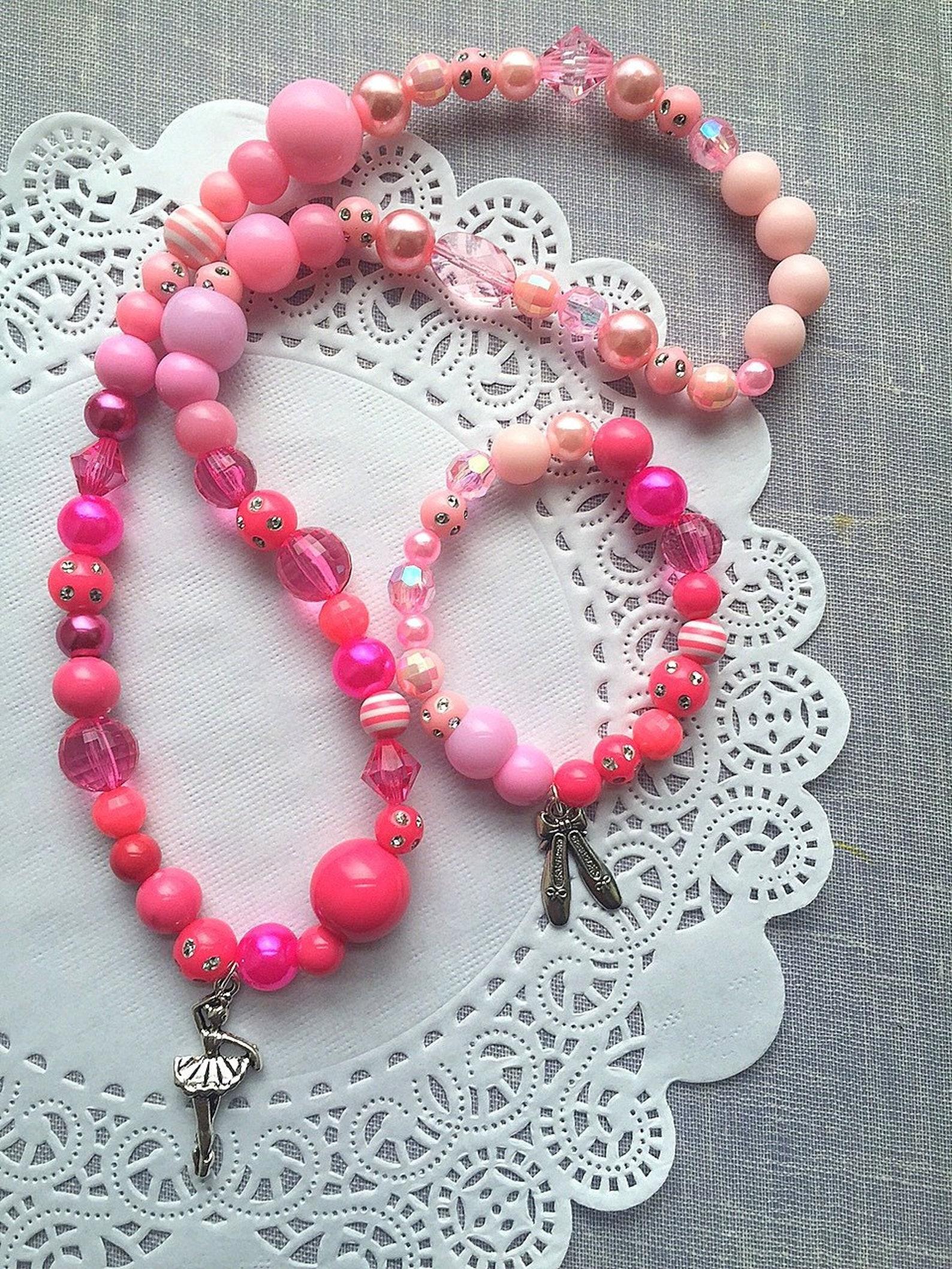 ballet jewelry set, ombre ballet necklace set, ballet bracelet set, dance jewelry, recital gift, dance recital, dance bracelet.