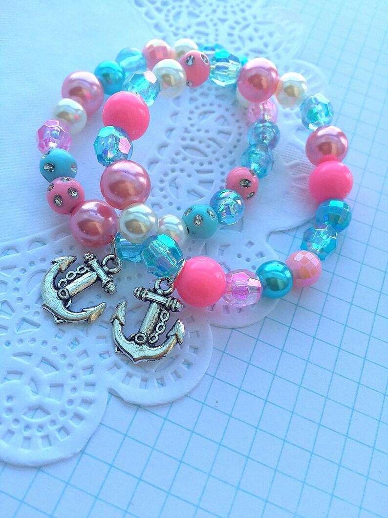 Anchor bracelet Anchor jewelry Anchor party favor bracelet image 0