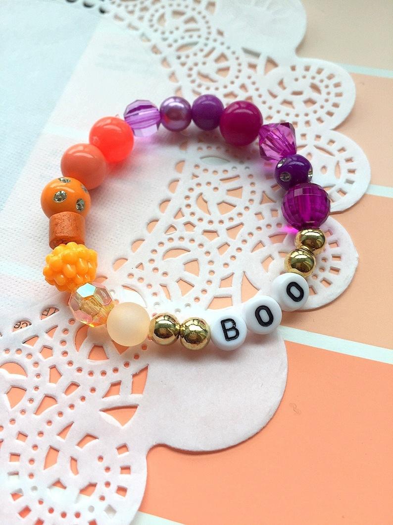 Halloween bracelet BOO bracelet kids jewelry autumn image 0