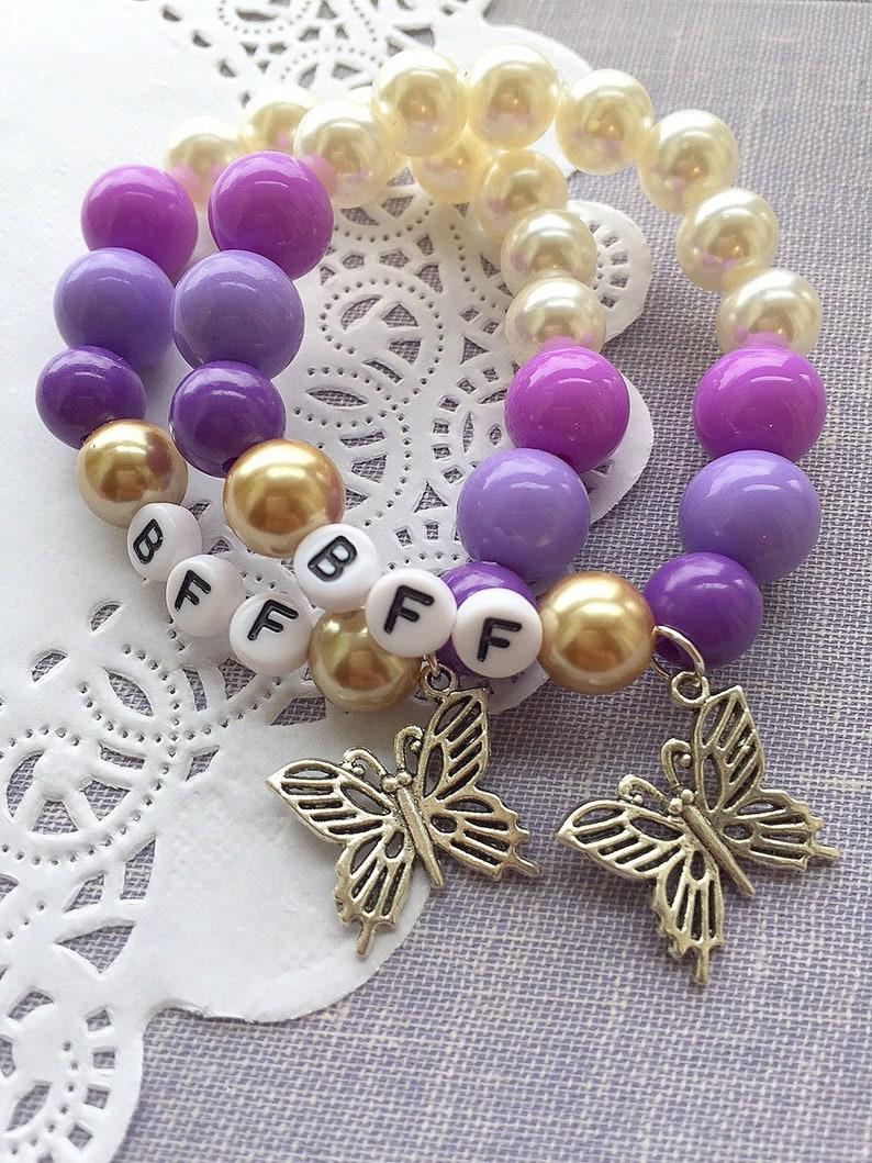Best Friend bracelet SET of TWO Friendship bracelet bff image 0