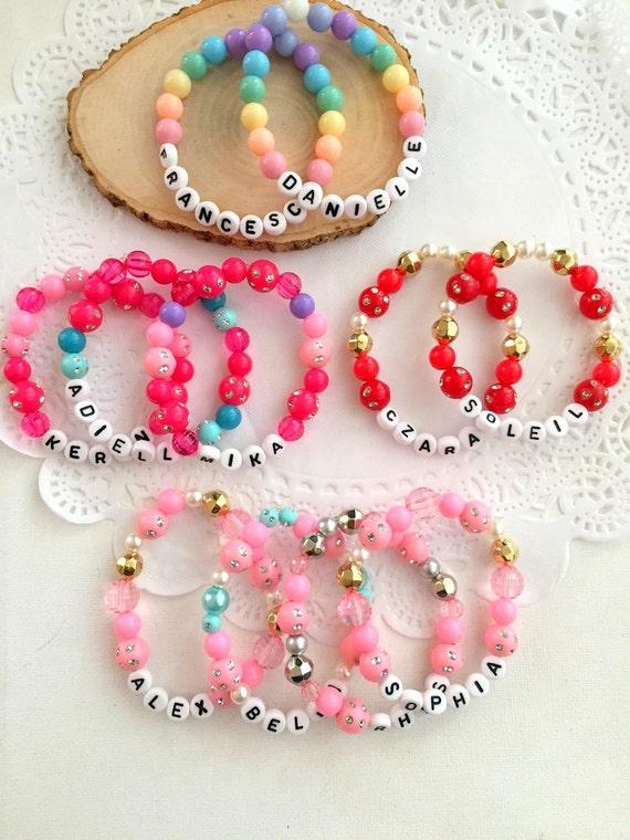 Personalized Bracelet Name Bracelet Set Of Ten Kids Birthday