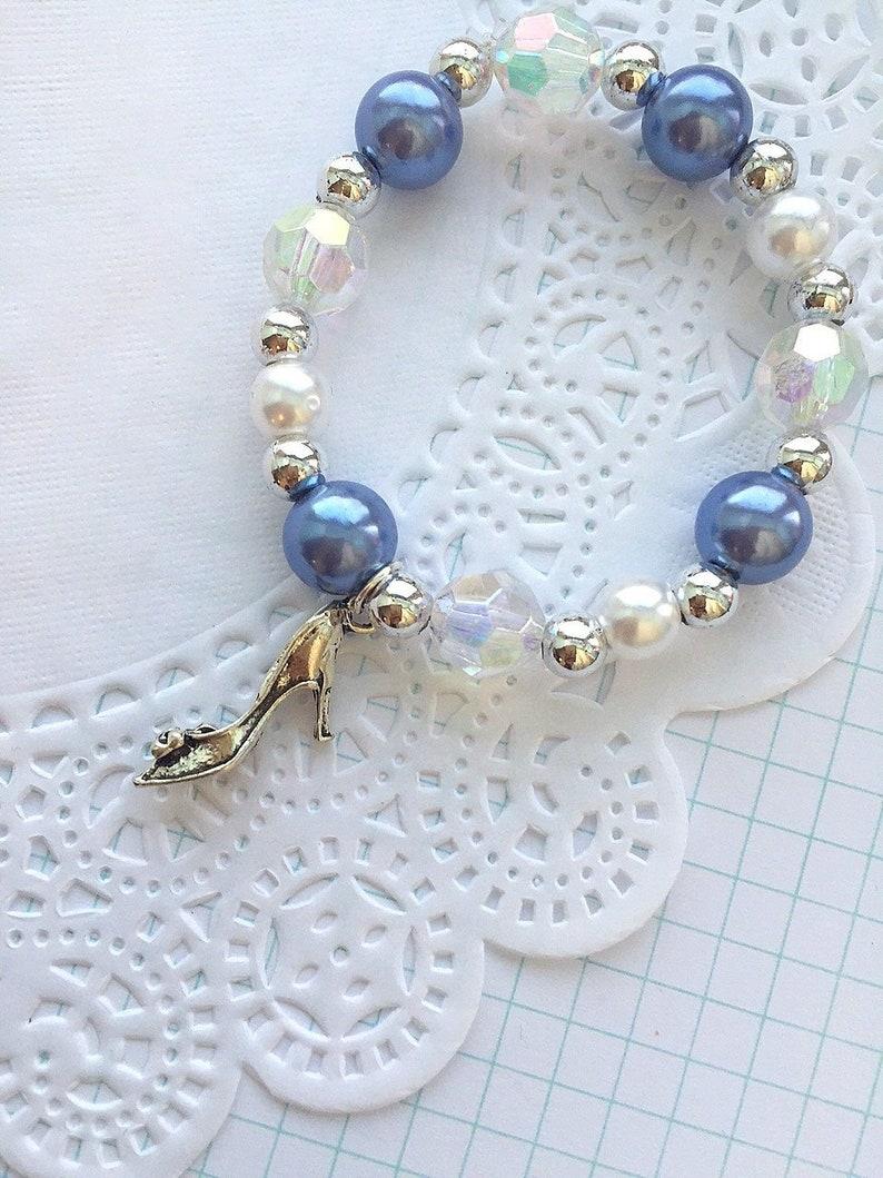 Cinderella inspired bracelet princess bracelet slipper image 0