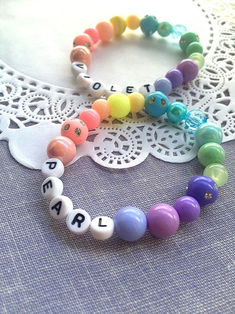 Pastel bracelet name bracelet personalized bracelet ONE image 0