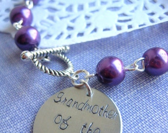Grandmother of the bride, pearl bracelet. Choose your color.