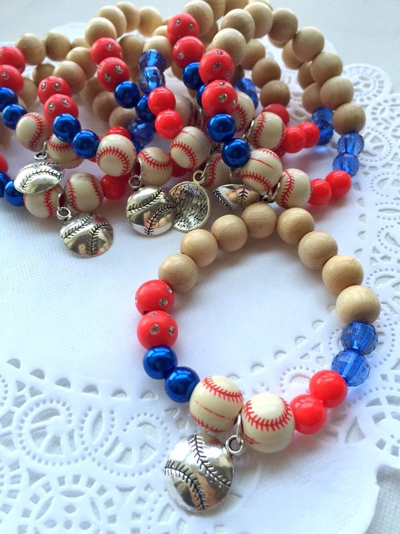 SUMMER SALE set of TEN Baseball jewelry baseball bracelet image 0