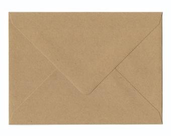 Natural Kraft Business card Envelopes 50/Pk