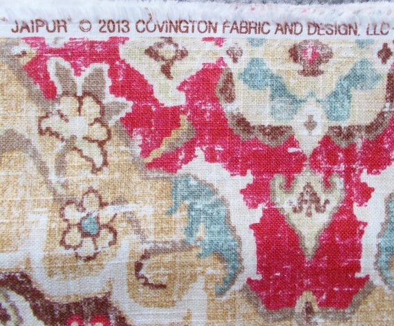 Covington Fabric Jaipur Moroccan Red 389 2 Yards Print Home Etsy