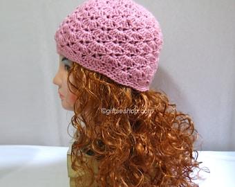 7086ec24e16 Knitting pattern beanie hat hand knit with flower hat pattern