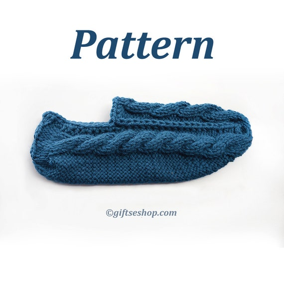 Knitting Pattern Slipper Socks Pattern For Knitted Slippers Etsy