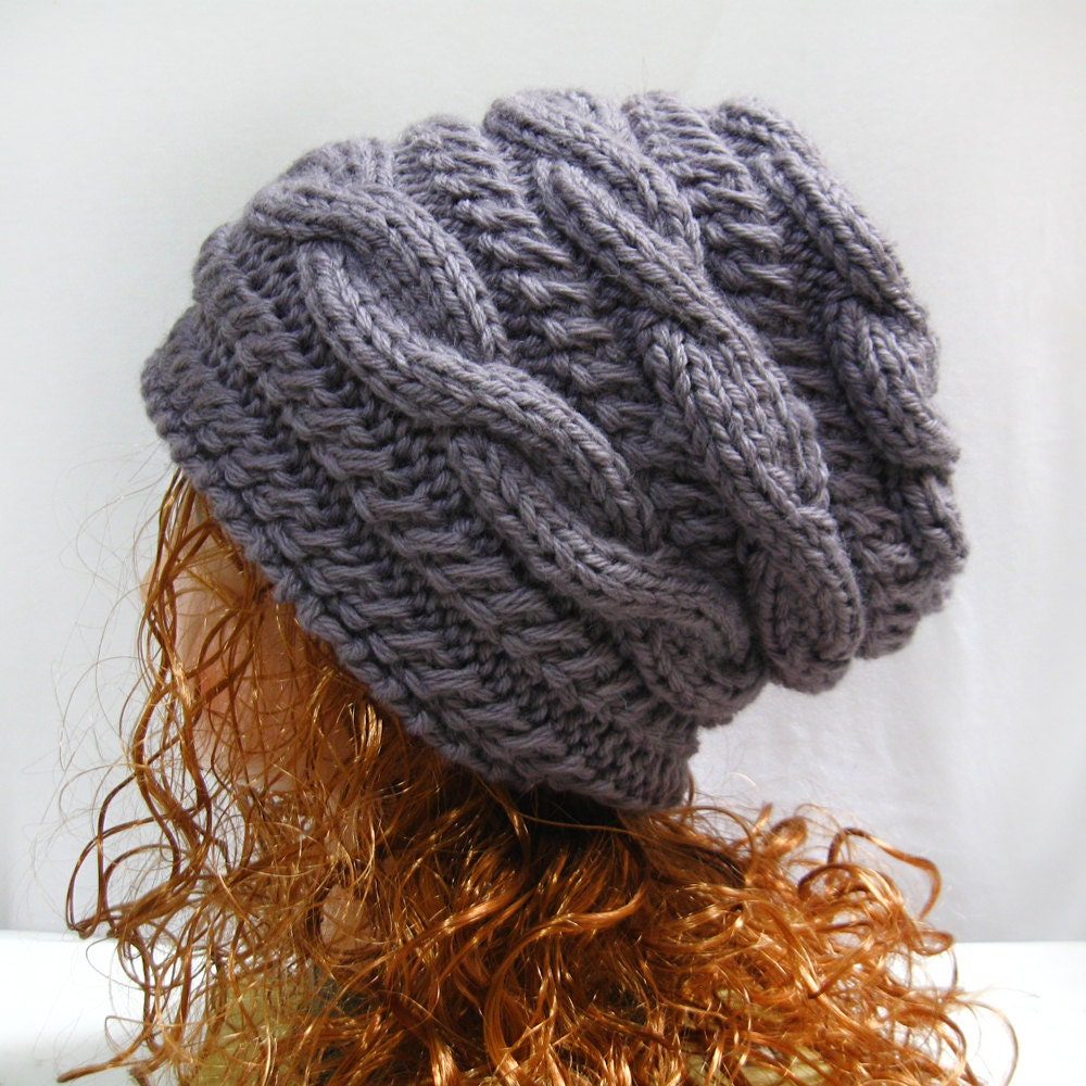 95c3036210c Slouchy Hat Knitting Pattern Slouchy Knit Hat Pattern