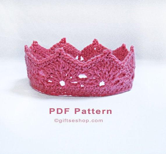 Crochet Crown Pattern Princess Crown Princess Tiara Etsy