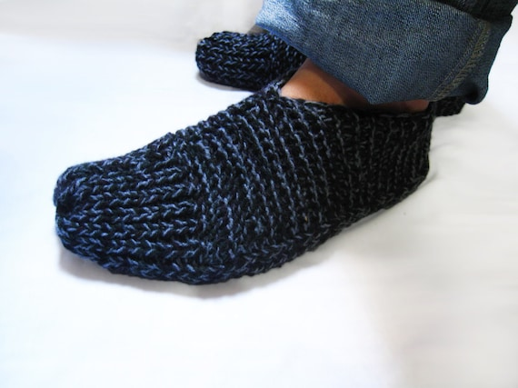 Easy Slippers Knit Pattern For Men Slipper Socks N48 Etsy