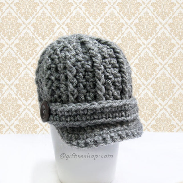 Crochet Pattern Baby Boy Hat Pattern Newsboy Hat Pattern Etsy