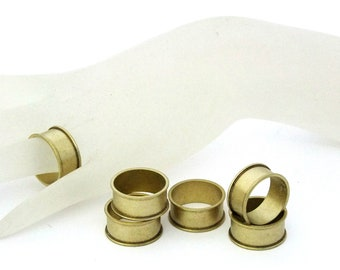 """Raw Brass Flat Ring Blanks 1//4/"""" Wide Size 12  Pkg Of 6"""