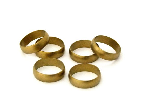 """Raw Brass Flat Ring Blanks 1//4/"""" Wide Size 10  Pkg Of 6"""