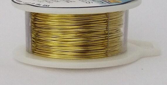 22GA Beadsmith Champagne Gold Color Non Tarnish  Wire 8 Yards