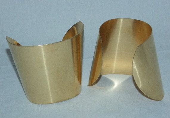 "Hammered Texture Raw Brass Bracelet Cuff Blanks Domed 1/"" Pkg Of 12"