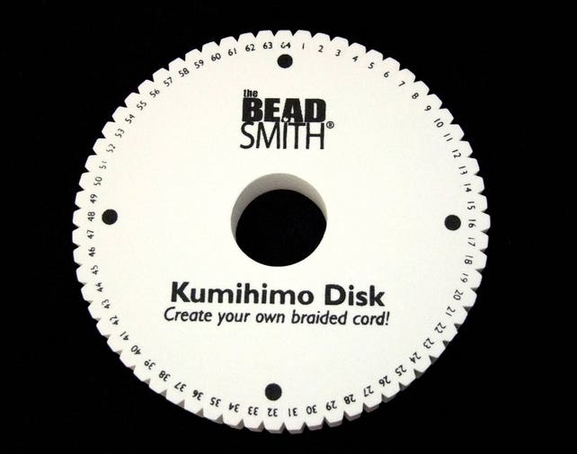 64 Slot Kumihimo Disc Round 20mm Thick 6in Diameter SALE   Etsy