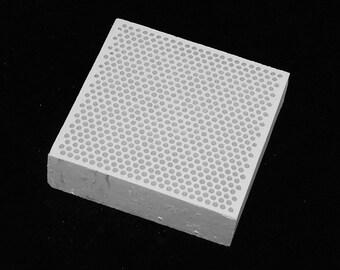 Honeycomb Ceramic Soldering Block 3x3 Inch
