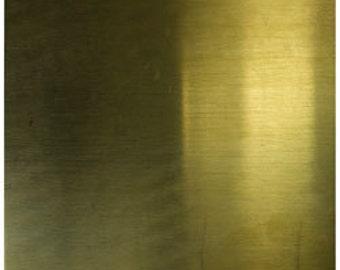 Brass Sheet 24gauge 6 x 6 inch 0.51mm Thick New lower Price