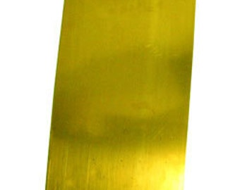 Brass Sheet 26ga 6 in. x 3 in. 0.41mm Thick New Lower Price