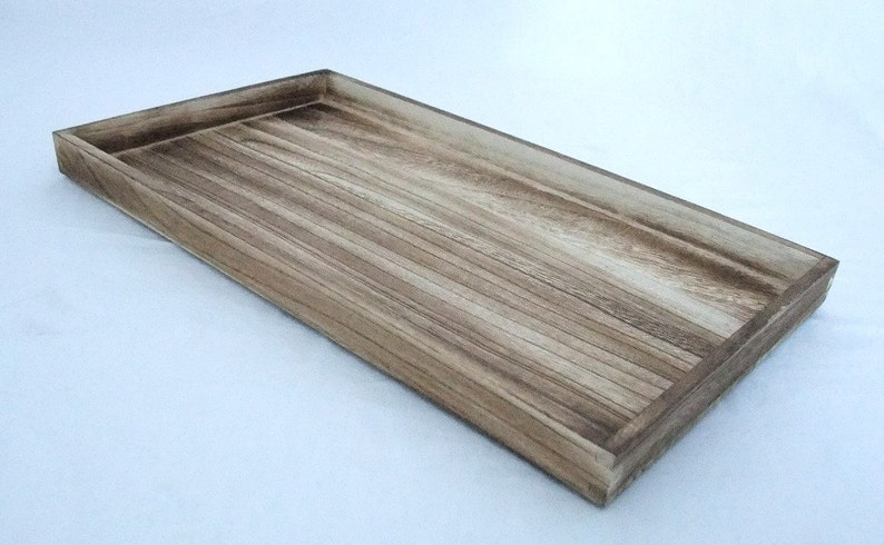 Rustic Antique Oak Color Wood Bead//Jewelry Sorting Tray 2 Inch Deep