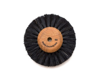 "Wood Hub Bristle Brush 2 Row 2.5"" Diameter For Tapered Spindles"