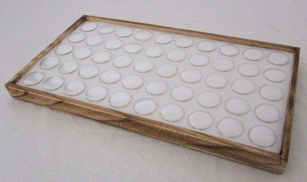 50 Slot Multipurpose Jewlery Sorting//Display White Stackable Tray Black