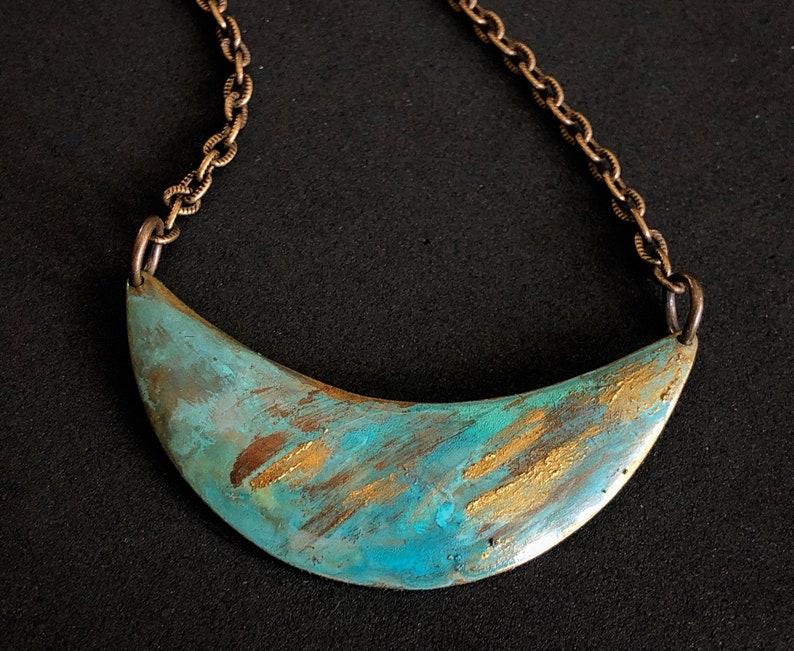 Lido Patina Crescent Necklace