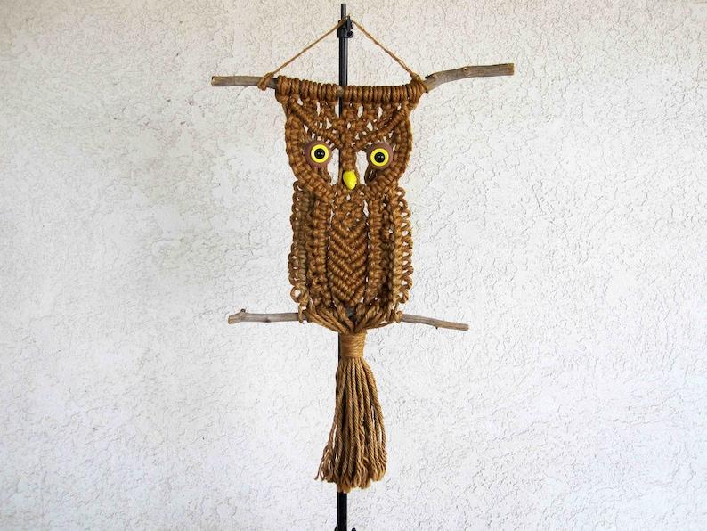 Vintage Macrame Owl. Large. Circa 1960's 1970's. | Etsy