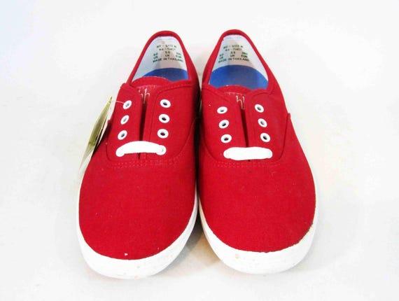 rouge de et chaussures Old Stock Keds en Vintage CIRCA 1990 New pont blanc qnYfXExw