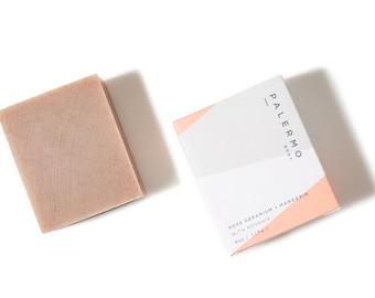 Rose Geranium + Mandarin Soap // with Organic Rose Hip // firming // gentile exfoliation // healing // balancing // combination skin //