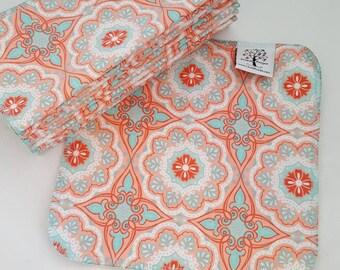 ECO CLOTH WIPES / Set of 12 / Deco Tile Cotton Cloth Wipes
