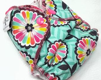 NEWBORN CLOTH DIAPER (6-12#) Waterproof AI2 w/Bamboo Hemp / floral burst,abstract,rainbow,nb,newborn diaper,reusable diaper,gift,baby,shower