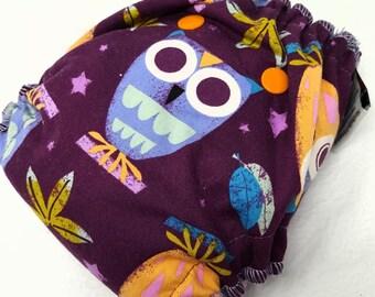 NEWBORN CLOTH DIAPER (6-12#) Waterproof AI2 w/Bamboo Hemp // owl diaper,boho baby,owls,owl newborn,diaper,reusable diaper,gift,baby,shower