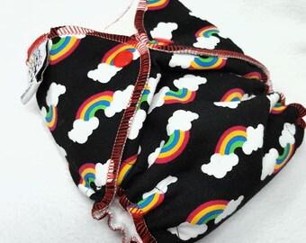 NEWBORN CLOTH DIAPER (6-12#) Waterproof AI2 w/Bamboo Hemp // black rainbow,rainbow baby,nb,newborn diaper,reusable diaper,gift,baby,shower